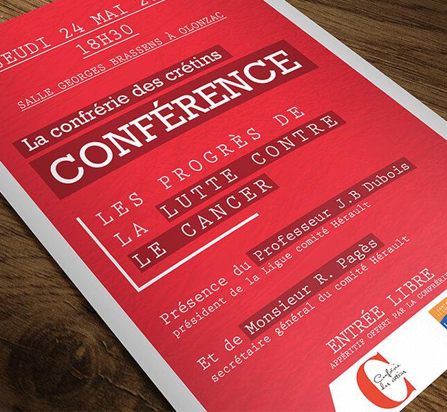 Affiche de promotion événementielle Lutte contre le Cancer