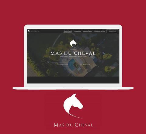 Mockup site vitrine Mas du Cheval Montpellier - Cover projet Agence de communication Coq Noir