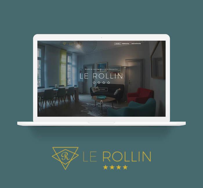Mockup site vitrine Le Rollin Montpellier - Cover projet Agence de communication Coq Noir