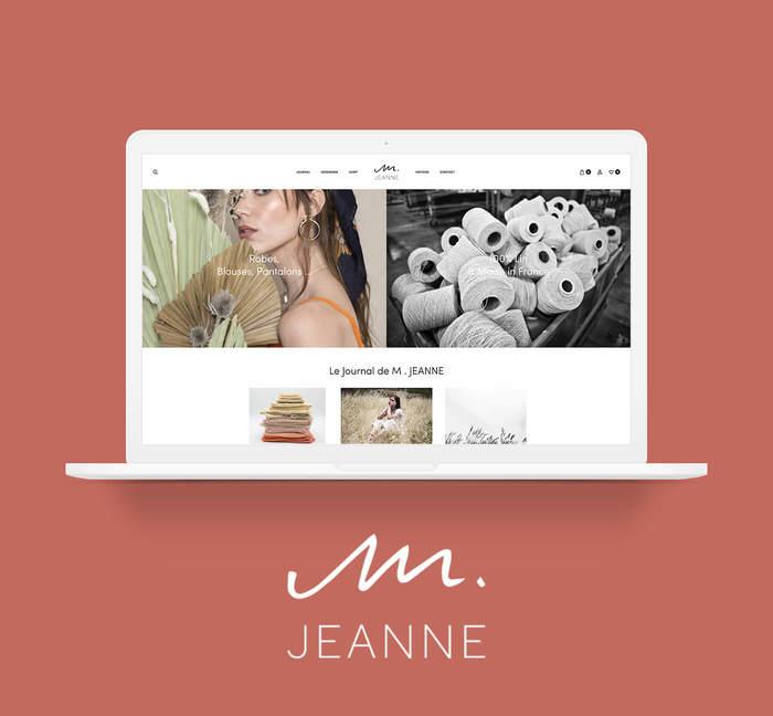 Mockup site e-commerce m-jeanne - Cover projet Agence de communication Coq Noir