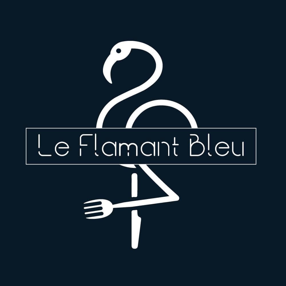 logo restaurant flamant bleu réalisé par Agence de communication Coq Noir Montpellier Lyon