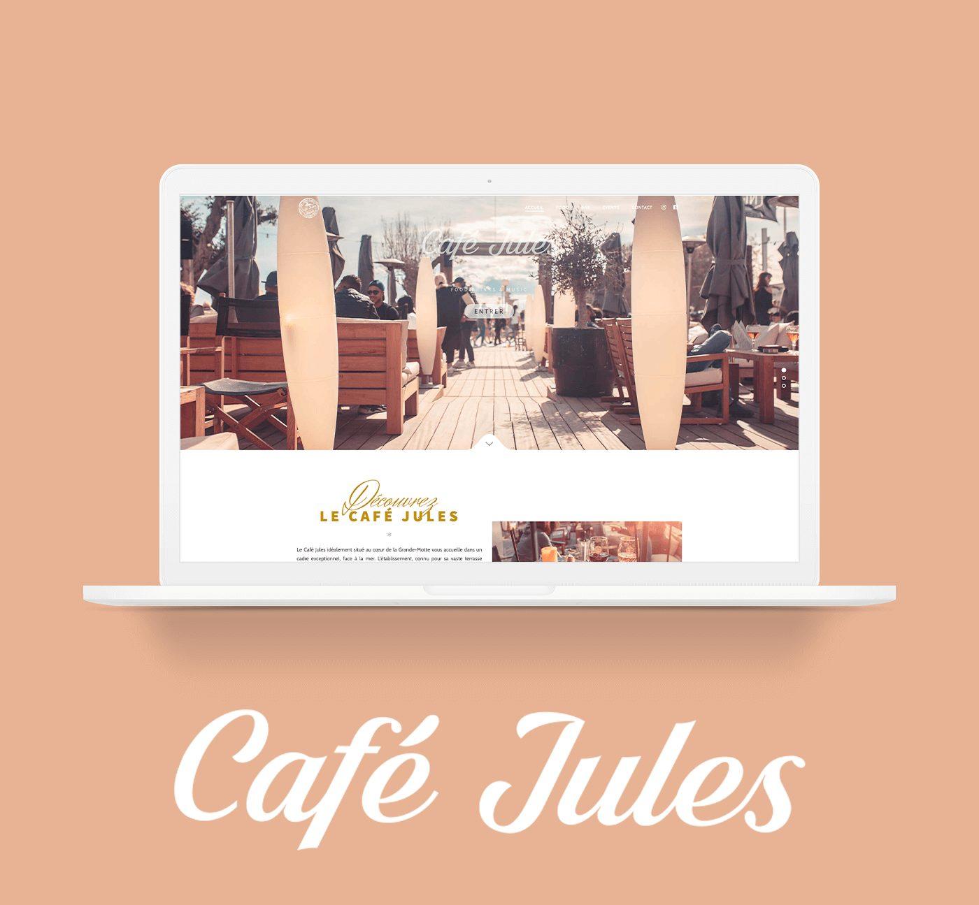 Mockup Site Vitrine Café Jules Montpellier - Cover projet Agence de communication Coq Noir