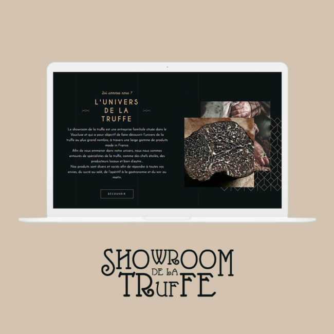 Mockup mise en avant site Showroom de la Truffe